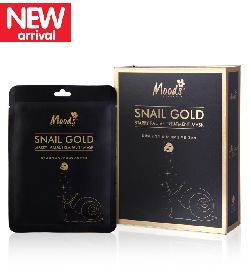 moods snail gold starry facial mask