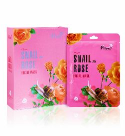moods snail rose facial mask
