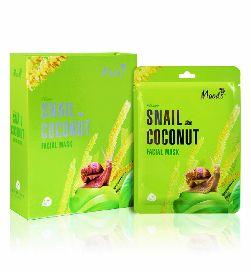 moods snail coconut facial mask