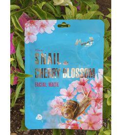 moods snail cherry blossom facial mask