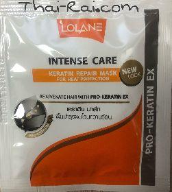 lolane intense care keratin repair mask for heat protection