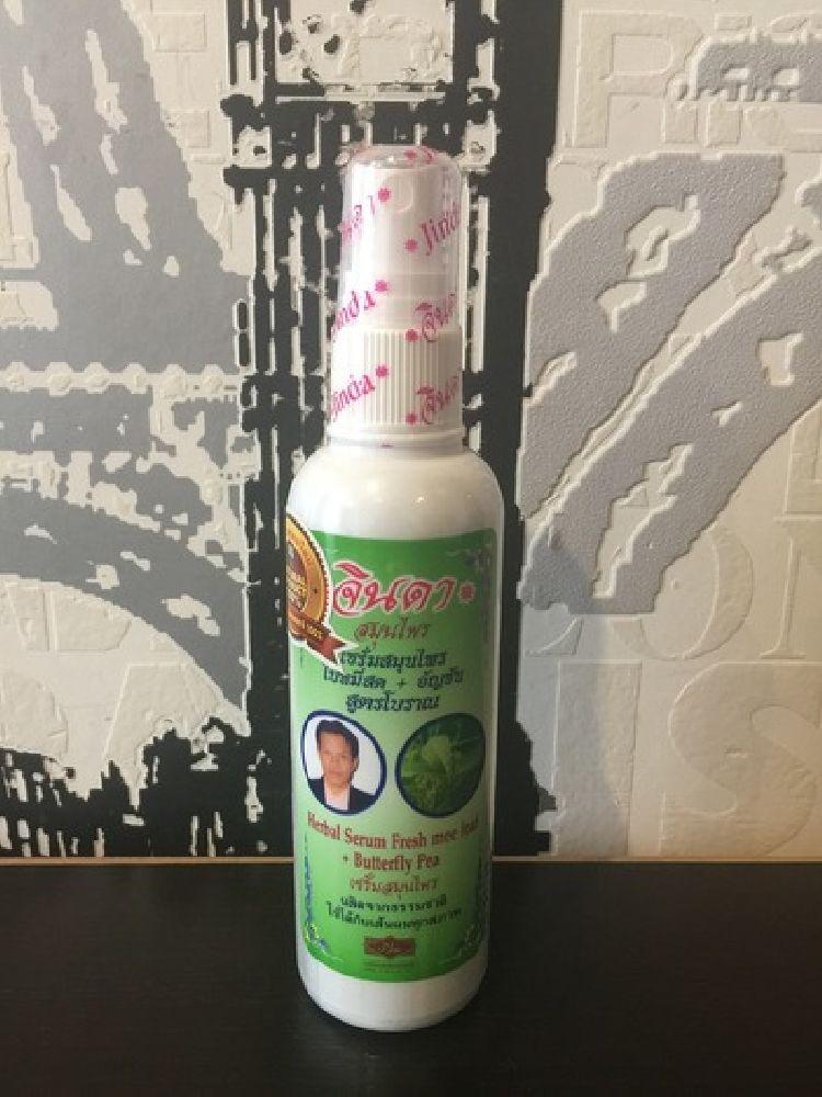 Лечебная травяная сыворотка от выпадения волос Jinda Herbal Serum Fresh mee leaf