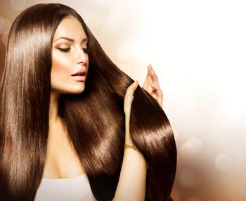 Как добавить блеск волосам?